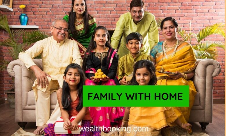 family with home
